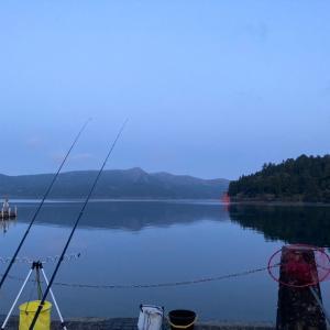 芦ノ湖のニジマス釣り(2回目)