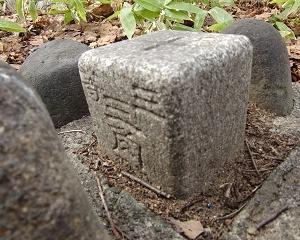 [三角点]★天神山(三等三角点、点名:平岸)標石