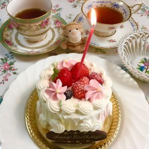 特製パスタ&苺ケーキ