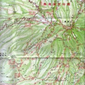 1976年の鳥海山地図 その一