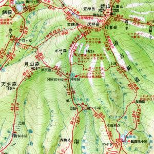 山と高原地図に見る清吉新道の変遷