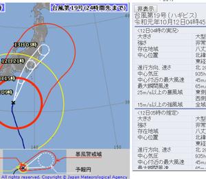 台風19号 すごく心配!