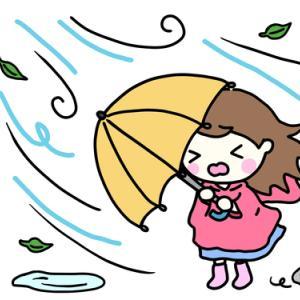 台風の日の悩み
