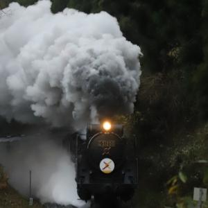 令和元年12月22日 山口線SL Xmas号 今年最後の訪蒸気は「雨に泣いている」