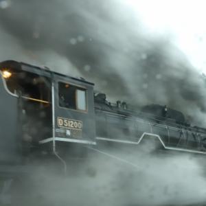 令和元年12月22日 山口線SLクリスマス号復路のおまけ blueskyさん、ありがとう