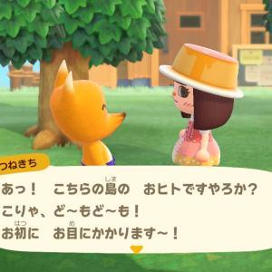 【あつ森】あつ森プレイ日記6日目・つねきちがやって来た!