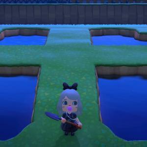 【あつ森】あつ森プレイ日記18日目・島を開拓&クローバー型の池を作ってみた♪