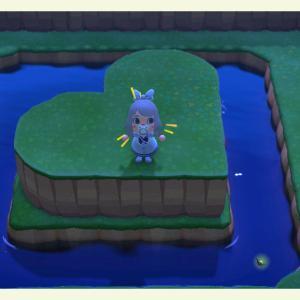 【あつ森】あつ森プレイ日記20日目・ハートの浮島作ってみた♪