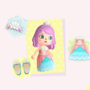 【あつ森】あつ森プレイ日記44日目・ラコスケからマーメイドなプリンセスドレスを貰った♪
