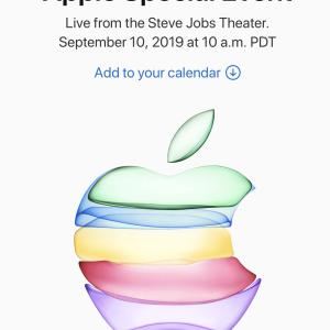Appleの新製品発表会が始まりましたよ!
