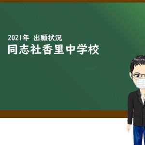 2021年 同志社香里中学校 出願状況