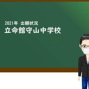 2021年 立命館守山中学校 出願状況
