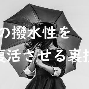 傘の撥水性を復活させる裏技 ~水玉コロコロが再びあなたの元へ~