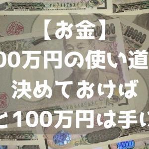 【お金】100万円の使い道を決めておけば自ずと100万円は手に入る