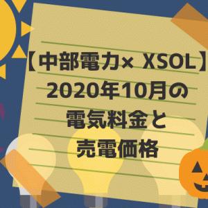 【中部電力×XSOL】2020年10月の電気料金と売電価格。