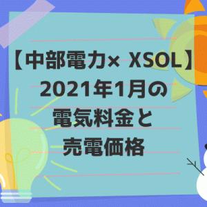 【中部電力×XSOL】2021年1月の電気料金と売電価格。