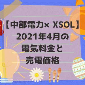 【中部電力×XSOL】2021年4月の電気料金と売電価格。