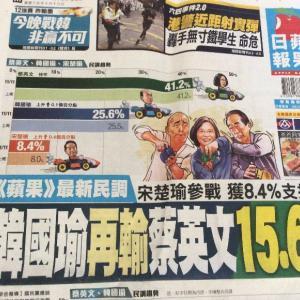【台湾総統選】第3の候補・宋氏登場 組織防衛が狙い? むしろ蔡英文に有利