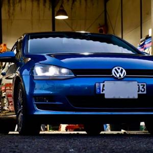 【VW】VW GOLFⅦ・スカイブルー号 冬タイヤ交換@GARAGENT
