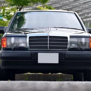【W124】「ミッドナイトブルー号」雨上がりの整備