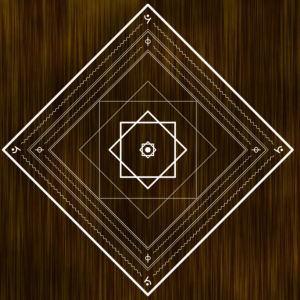 魔法陣みたいなものを作りました。タイトルは「反転の門」