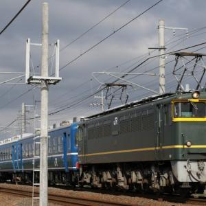 EF65 1124+12系客車 『SL北びわこ号』 客車返却回送 撮影機会が増えて...。