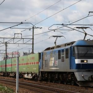 56レ EF210-114 福通レールExp. 旧塗装コンテナ多し。