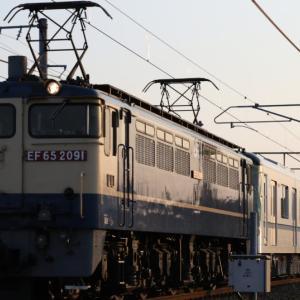 EF65 2091 東京メトロ13000系甲種輸送43編成目