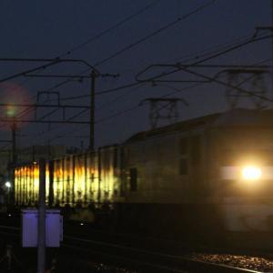 1094レ EF210-7 早朝の貨レ ホッパーコンテナ、TRANCY、メガスポーツのU16A?