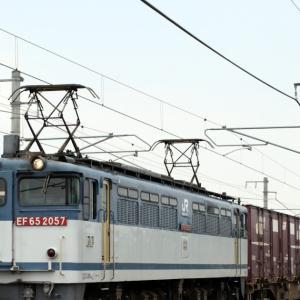 5087レ EF65 2057 絶滅危惧種の貨物更新色PF がんばろう日本、30形コンテナ×4