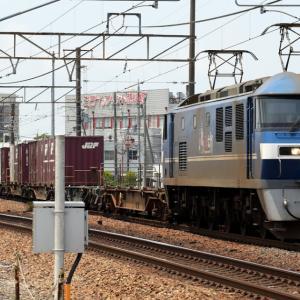 1070レ EF210-108 いつもの貨レ UM12A、UT10C、日通のUM21A、静岡通運×2