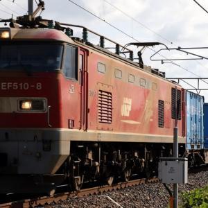 4071レ EF510-8 いつもの北陸貨レ 北越Corp.×2、がんばろう日本、ガレオンアース×2、UT8C