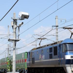 59レ EF210-109 『福山レールエクスプレス』 まだら塗装の検査明けコキ
