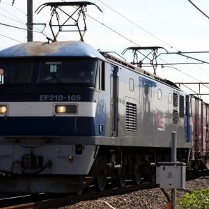 5070レ EF210-105 JRFロゴなしの原色塗装