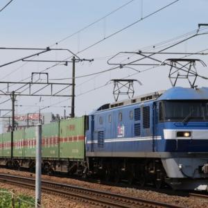 56レ EF210-106 福通レールExp. 新塗装の吹桃