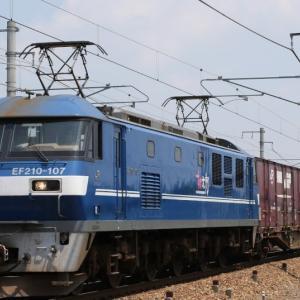 5071レ EF210-107 新塗装色の桃太郎 オホーツクタマネギ