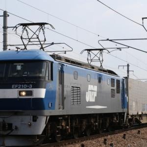 1055レ EF210-3 サービスのホイッスル一発 日本梱包、カルちゃん