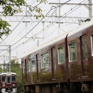 【阪急】 7007F 『特急』 × 9006F 『特急』 目の前ですれ違いはテンションアップ。