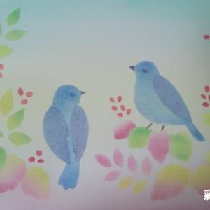 きままハウスパステルアート作品(小鳥)
