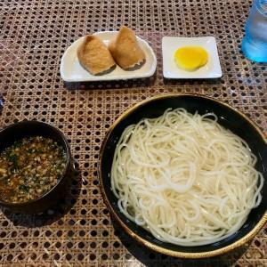 🚩外食日記(152)    宮崎ランチ   「麺処 綾」より、【釜あげうどん】【いなり2個】‼️