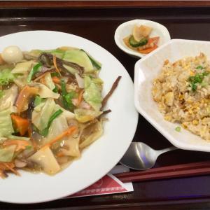 🚩外食日記(158)    宮崎ランチ   「中華料理  福隆」より、【あんかけ焼きそば&焼きめしセット】‼️
