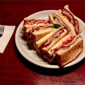 🚩外食日記(477)    宮崎ランチ   「レストラン ラブ」★11より、【ボリュームかつサンド】‼️