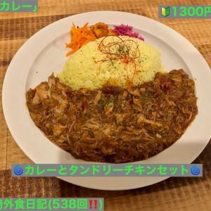 🚩外食日記(538)    宮崎   「パンカレー」③より、【カレーとタンドリーチキンセット】‼️