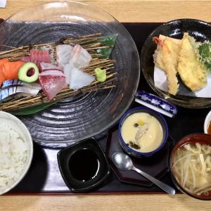 🚩外食日記(728)    宮崎ランチ   「海鮮茶屋 うを佐」★12より、【刺身天ぷら御膳】【カフェゼリーアイス】‼️