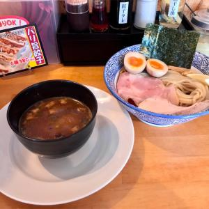 🚩外食日記(808)    宮崎ランチ  🆕「麺道 万里一喰」より、【鶏【煮干し】魚介つけ麺】【噂の半熟味玉】‼️