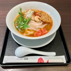 🚩外食日記(818)    宮崎ランチ   「北浦獲れ 真鯛そば麺鯛」②より、【海老そば】‼️
