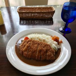 🚩外食日記(821)    宮崎ランチ  🆕 「ベルエポックカフェ」より、【日南赤豚カツカレー】‼️
