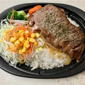 🚩外食日記(824)    宮崎ランチ   「ペニーレイン」★22より、【サーロインステーキ丼(テイクアウト限定)】【ベイクドキャラメルチーズケーキ】‼️