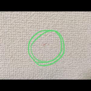 凸凹の壁の汚れ