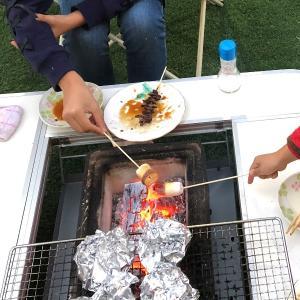 我が家のキャンプ道具紹介「バーベキューテーブル」~焼肉屋さん風に過ごしたい方はこれ!~